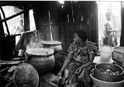 Porridge Photo Prints - Kitchen and Fat Pots Print by Muyiwa OSIFUYE
