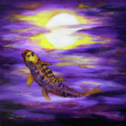 Laura Iverson - Koi in Purple Twilight
