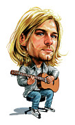 Caricatures Acrylic Prints - Kurt Cobain Acrylic Print by Art