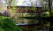 Pennsylvania Dutch Photos - Kurtzs Mill Covered Bridge by Suzanne Stout