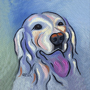 Tongue Art Painting Originals - Labrador Retriever by Karen Zuk Rosenblatt