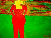 Felix Zapata - Lady in red looking at sunset