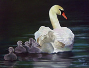 Swans Pastels - Lagging Behind by Marcus Moller