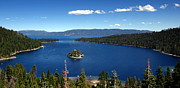 Castle On Mountain Prints - Lake Tahoe Emerald Bay Print by Jeff Lowe