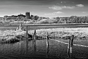 Infer Prints - Lancing College - Infrared Photography Print by Steven Cragg