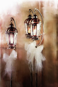 Ribbon Framed Prints - Lanterns Framed Print by Stephanie Frey