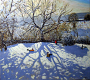 Andrew Macara - Large tree and tobogganers