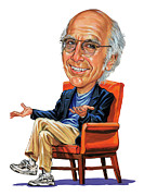 Laughing Painting Posters - Larry David Poster by Art