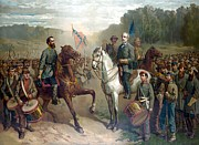 Confederate Paintings - Last Meeting Of Lee And Jackson by War Is Hell Store