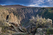 Dramatic Skies Framed Prints - Late Afternoon at Black Canyon of the Gunnison Framed Print by Greg Nyquist