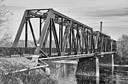 Lewiston Prints - Lewiston-Auburn Railroad Bridge Print by Guy Whiteley
