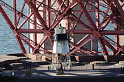 Wingsdomain Art and Photography - Lighthouse Atop Fort Point Next To The...