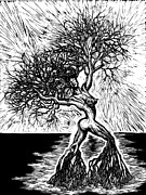 Female Reliefs Metal Prints - Like a Tree In the River Metal Print by Sabrina McGowens