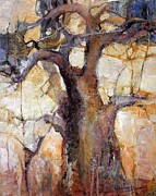 Baobab Paintings - Lines of Time by Wendy Rosselli