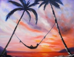 Sunsets Original Paintings - Living the Dream by Gina De Gorna