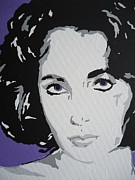 Film Paintings - Liz by Nickie Mantlo