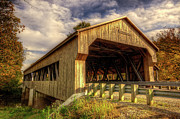 Unity Photo Posters - Lockport Bridge in Fall Poster by Valencia Photography