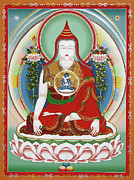 Indian Guru Paintings - Longchenpa by Sergey Noskov