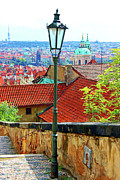Stair Walk Prints - Looking Down Over Prague Print by Mariola Bitner