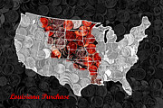 Wingsdomain Art and Photography - Louisiana Purchase Coin Map . v1