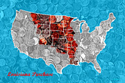 Wingsdomain Art and Photography - Louisiana Purchase Coin Map . v2