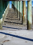 Judy Hall-Folde - Low Tide Fishing Pier