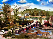 Arcadia Mixed Media - Low Water Bridge III by Kip DeVore