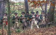 Revolutionary War Digital Art Prints - Loyalist Skirmishers Revolutionary War   Print by Randy Steele