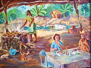 Firepit Posters - Lunch in Mexico Poster by Bill Joseph  Markowski