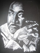 Civil Rights Pastels Posters - M. L. King Poster by Vanderbill King