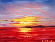 Sunsets Original Paintings - Magic at Sunset by Gina De Gorna