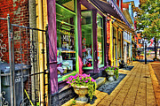 Store Fronts Posters - Main Street Poster by Tony Gayhart