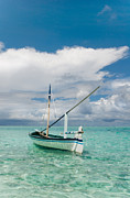 Jenny Rainbow - Maldivian Boat Dhoni on the Peaceful...
