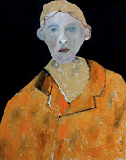 Portrait Paintings - Man in an Orange Jacket by Edgeworth Johnstone