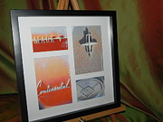 Rusted Cars Framed Prints - Mark 5 Collage Framed Print by Chuck Re