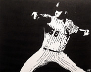 White Sox Paintings - Mark by Matthew Formeller
