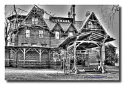 Huckleberry Finn Framed Prints - Mark Twain House II Framed Print by Frank Garciarubio