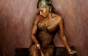 Mary J.blige Fine Art Print by Alonzo Butler