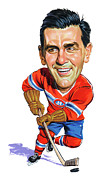 Nhl Paintings - Maurice Rocket Richard by Art
