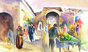 Essaouira Paintings - Medina of Essaouira by Miki De Goodaboom