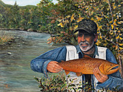 West Fork Painting Prints - Memory of Roger Print by Catfish Lawrence