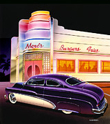 Rainbow Colors Posters - Mercs Burgers Poster by Bruce Kaiser
