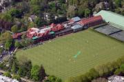 Aerial Acrylic Prints - Merion Cricket Club PICF by Duncan Pearson