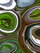 Morphed Metal Prints - Metal Abstract Metal Print by Linnea Tober
