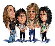 Caricatures Acrylic Prints - Metallica Acrylic Print by Art