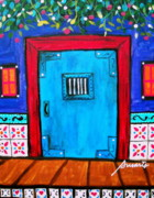 Pristine Cartera Turkus - Mexican Door Painting