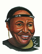 Award Drawings Prints - Miriam Makeba Print by Emmanuel Baliyanga