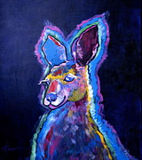 Kangaroos Paintings - Mona Lisa Roo by Adele Bower