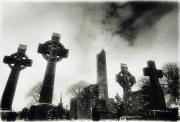 Black And White Symbolism Art - Monasterboice, Co Louth, Ireland by Sici
