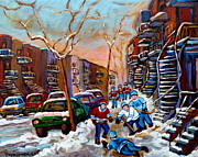Hockey Paintings - Montreal Hockey Paintings by Carole Spandau